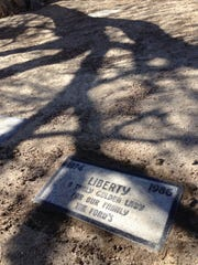 President Gerald R. Ford's dog, Liberty, is buried at Pet Haven cemetery in Desert Hot Springs. Oct. 29, 2013.