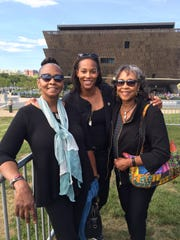 Gail Chambers, Cori Chambers and Donna Chambers outside the museum in Washington D.C.