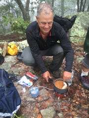 A hot lunch cooked with a micro stove on the trail kept our group fueled for a steep section of the trail.