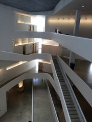 The interior of UI's new Visual Arts Building features