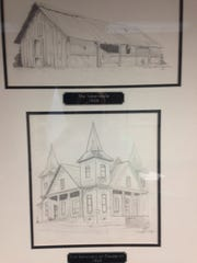 These drawings show what the homes of West Jackson Baptist Church looked like in 1908 and 1909.