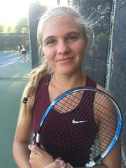 Taylour Newman of Simi Valley was the singles MVP on the All-Coastal Canyon League girls tennis team.