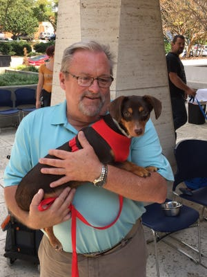 Doodles was adopted during the Newshound Lunch Break last week.
