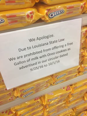 This sign was posted recently at a Target store at the intersection of Kaliste Saloom Road and Ambassador Caffery Parkway in Lafayette, Louisiana.