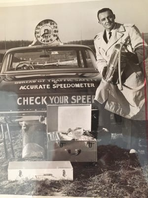 As Pennsylvania's assistant commissioner for traffic safety, Charles Johnson traveled the state and demonstrated radar to gain support to legalize its use by police.