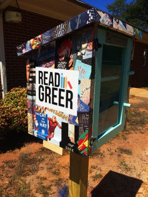 Designed by Greer Cultural Arts, the two new Little Free Libraries in Greer are among more than 36,000 locations around the world.
