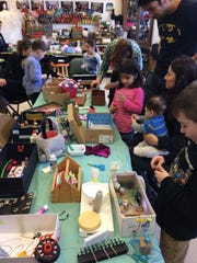 Beacon Art Studios owner and founder Eva Gronowitz uses recycled materials in her workshops for children.