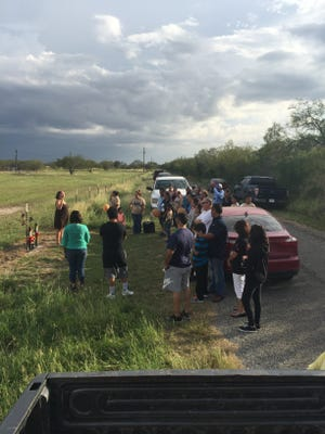 """A memorial service was held a year after the deaths of Robert Mata and Marcelino """"Gordo"""" Guerra in Jim Wells County."""