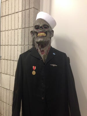 A zombie-sailor awaits your arrival to the Wisconsin Maritime Museum