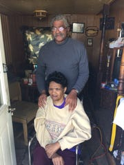 Clarence and Lorena Jones at their home of 13 years in Verona, Va., where through a Renewing Homes of Greater Augusta volunteer project they are getting a new wheel chair ramp on Saturday, Oct. 29, 2016.
