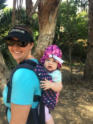 Whitney Hormuth and her daughter, Cambria, the youngest of her three children, who are all 5 and under, enjoy the outdoors.