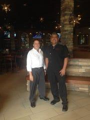 Owner David Andreas and head chef Hiram Hernandez of