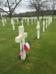Second Lt. John W. Reeves Jr., co-pilot of a B-24 bomber, was shot down during a raid over Hungary on Aug. 22, 1944. He is buried in the Lorraine American Cemetery and Memorial in Lorraine, France, home to 10,489 fallen service members.