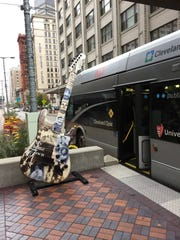 Cleveland's HealthLine buses roll in bus-only lanes, and GPS technology turns the traffic lights green when they approach.