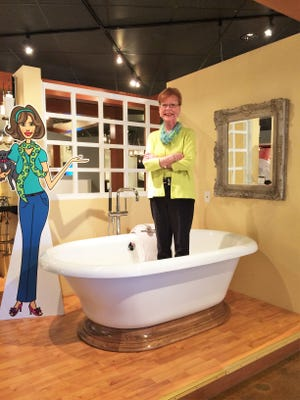 Dottie Ramsey, current COO and president of Modern Supply, poses in the Modern Supply showroom.