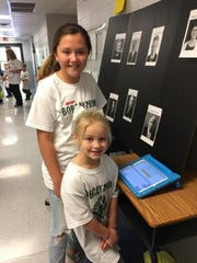 Polling stations used during the mock election featured candidate faces to help younger students make voting selections.