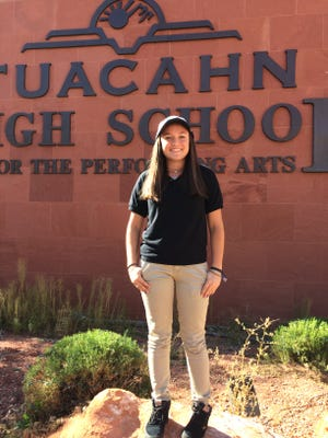 Gracie Richens signed her National Letter of Intent to play golf at Brigham Young University Wednesday at Tuacahn High School. Richens became the first-ever student to earn a Division I scholarship at Tuacahn High School.