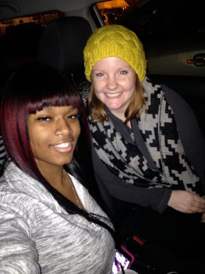 Coriana Johnson and her Big Sister, Lindsay Stawick. The two met when Johnson was 11 years old and remained close until Johnson's death in 2015.