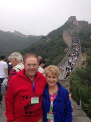 Roy and Marilyn Flournoy visit the Great Wall while on a 12-day tour of China.