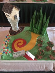 """""""Wizard of Oz"""" gingerbread house by Kohler Elementary."""