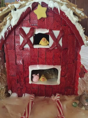 """""""Christmas on the Farm"""" gingerbread house by RCS Empowers"""