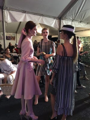 Style Fashion Week Palm Springs models backstage before the show starts, Nov. 12, 2016.