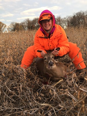 Vanessa Flury, of Oakfield, shot this nub buck. It was her first deer.
