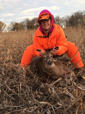 Vanessa Flury, of Oakfield, shot this nub buck. It was her first deer.