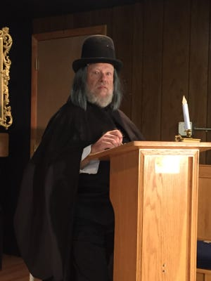 Ed Weisbrot, of Forked River, as Scrooge in the world premiere of LUMC's version of A Christmas Carol
