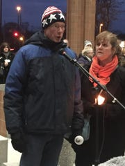 "Parents Richard and Ann Stislicki, here at a candlelight vigil last month, are ""praying for the perseverance"" to stay positive as they await news of their missing daughter."