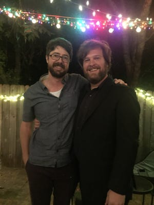 """Writer Britt Haraway (left) and musician Tim Regan (right) will collaborate on a nontraditional release event for Haraway's new book, """"Early Men."""""""