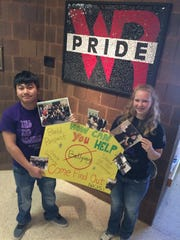 Toukao Thao and Clea Christensen are student leaders in the Name It, Claim It, Stop It anti-bullying club at Lincoln High School in Wisconsin Rapids.