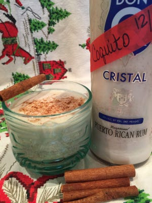 Tropical coquito is the perfect beverage to serve during the sultry Florida holiday season.