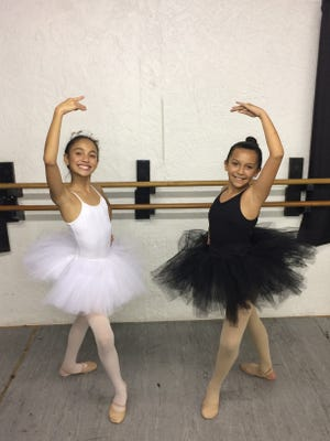 "Antonia Gonzalez (left) and Hannah Adams will be dancing with about 25 other Southwest Florida kids in next week's ""Great Russian Nutcracker"" at Barbara B. Mann Performing Arts Hall."