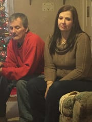 Gene Quinter and Dawn Forsythe, pictured on Dec. 17,