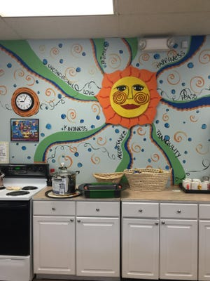 Kitchen items were part of the transformation of the PAL Resource Center.