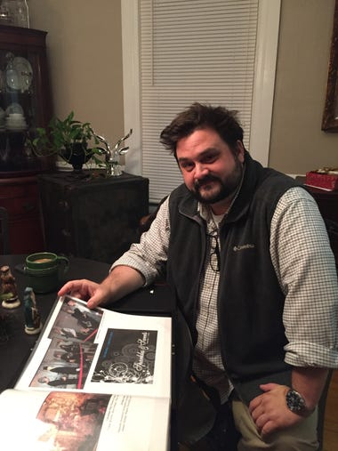 Greg Beam in his home in Staunton on Monday, Dec. 19,