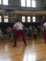 Activities during day camp at the YMCA.