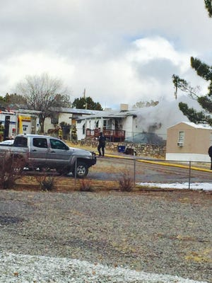 A structure fire took place Christmas Day on Blue Jay Lane in Silver City.