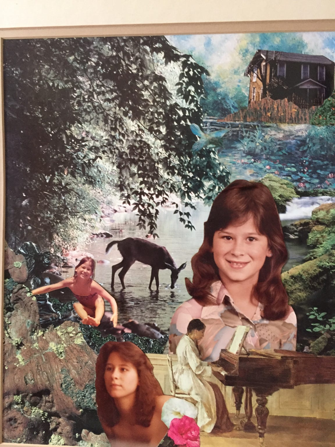 A collage of photographs capturing Annette Craver Vail's