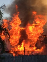 Six displaced after a home fire early Saturday in Fellsmere.