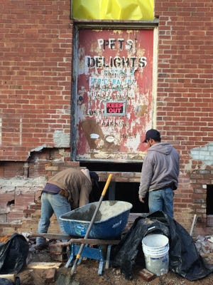 Construction has been taking place on the former Pet's Delights building at 70 Charlotte St. A construction permit states it is being renovated for office space.