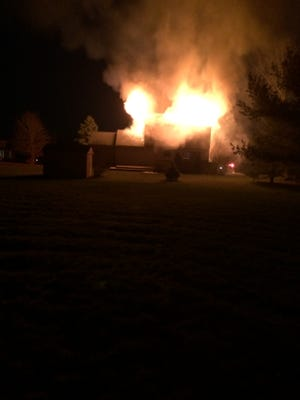 No injuries were reported in this residential fire on the 59000 block of Sterling Sunday.