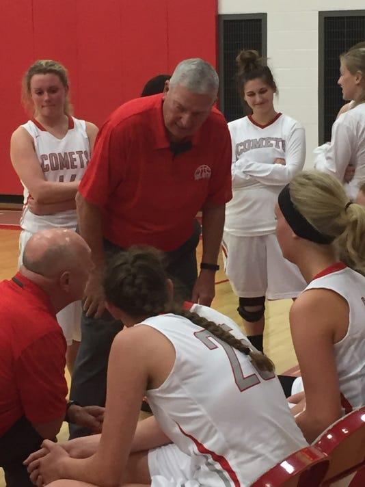 Elgin girls basketball coaches Mike Ward Bill McElroy