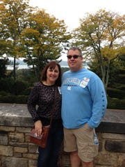 Dana Earley and her husband, Bob, tour the Rockefeller estate Kykuit in New York in 2014. The Sewell couple enjoys last-minute getaways.