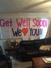 A banner from Blackman High coaches and players for