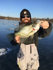 Like his northern pike catch, Jarett Hoffman hauled in a Master Angler crappie on the same day.