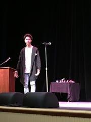 Quintin Johnson, a junior at Howard High School of