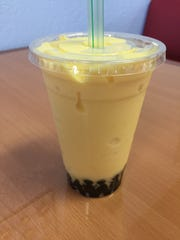 The mango ice with boba was a winning pick at Jasten's Ice and Banh Mi.