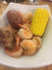 Hook & Boil specializes in boiled shrimp, pictured, and boiled crawfish.